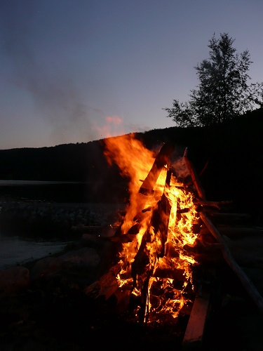 Todalsfjord Lagerfeuer